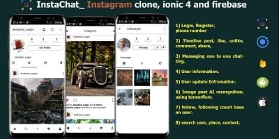 InstaChat - Instagram Clone Ionic 4 And Firebase