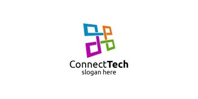 Technology Logo And Electronic