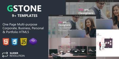 Gstone - Responsive Bootstrap 4 One Page Portfolio