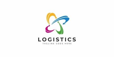 Logistics Arrows Logo
