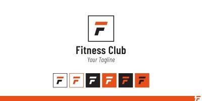 F Letter Fitness  Logo Template