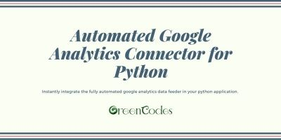 Automated Google Analytics Connector For Python