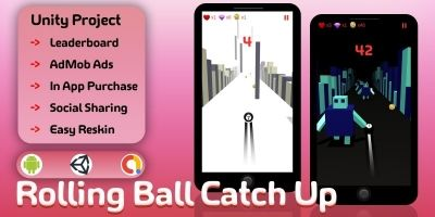 Rolling Ball Catch Up - Unity Source Code