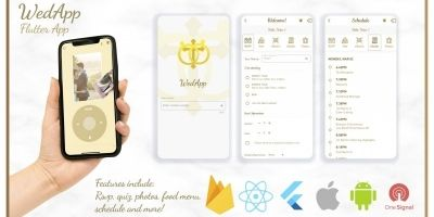 Wedding App - Full Flutter App With Dashboard