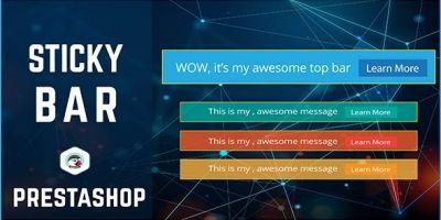 PrestaShop Sticky Bar And Top bar Module