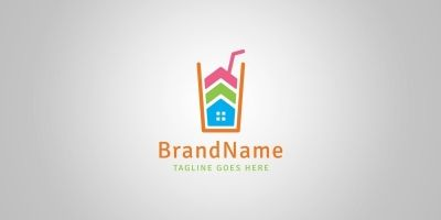 Juice House Logo Template