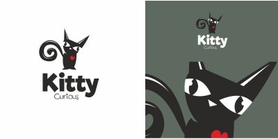 Kitty Black Cat Logo