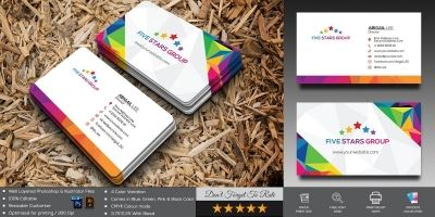 Five Stas Business Card Template