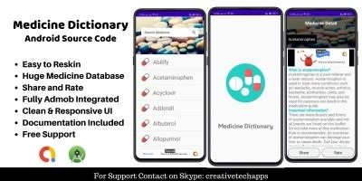 Medicine Dictionary - Android App Source Code
