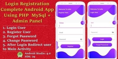 Android Login - Registration App With Admin Panel