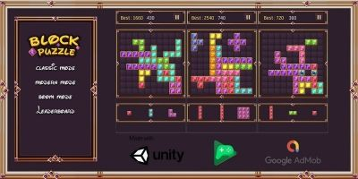 Jewel Block Puzzle 2020 Unity Template