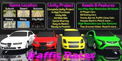 Traffic Racer 3D Unity Source Code