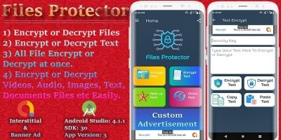 Files Protector - Encrypt and Decrypt Android App