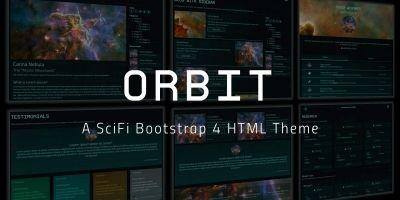 Orbit - Futuristic Scifi Bootstrap 4 HTML Theme