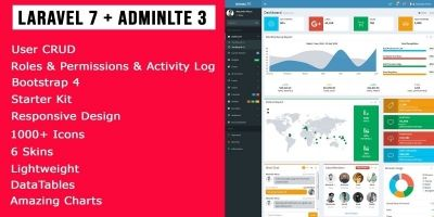 Laravel  AdminLTE3 With User Roles And Permissions