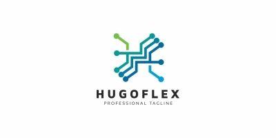 H Letter Tech Logo