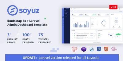 Soyuz - Laravel Bootstrap Admin Template