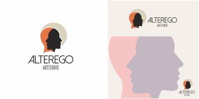 Human Face Alter Ego Logo