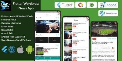FluxPro News - Flutter Wordpress Blog News App