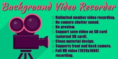 Background Video Recorder Android Code With Admob