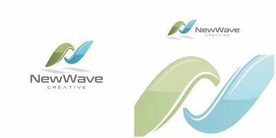 New Wave Letter N Logo