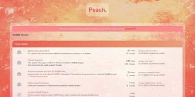 Peach Premium MyBB Theme