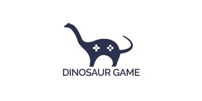 Dinosaur Game Logo Design