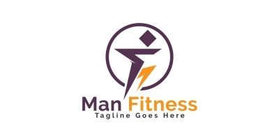 Man Fitness Logo Design