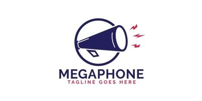 Megaphone Vector Logo Design