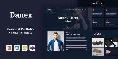 Danex – Personal Portfolio Html5 Template
