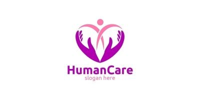 Health Care and heart Logo Design