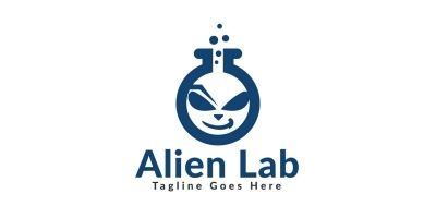 Alien Lab Logo Design