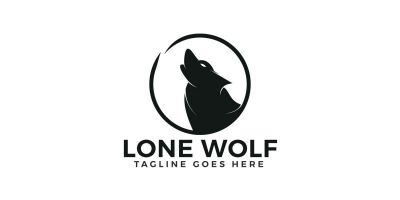 Lone Wolf Logo Design.