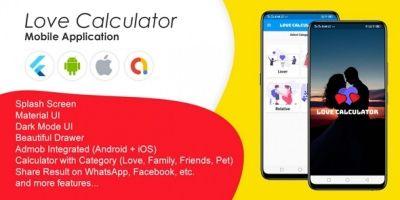 Love Calculator - Complete Flutter App Template