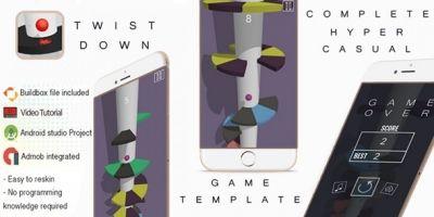 Twist Down Buildbox 3 Template With Admob