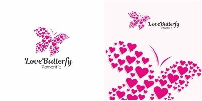 Love Butterfly Logo