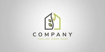 Eco House Logo Template
