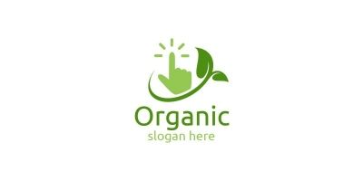Online Natural and Organic Logo design template