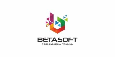 Betasoft B Letter Colorful Logo