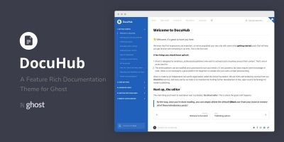 DocuHub - A Modern Documentation Theme For Ghost