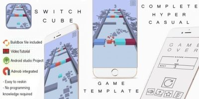 Switch Cube Buildbox 3 Template With Admob