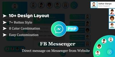 Facebook Messenger - FB Messenger PHP Plugin