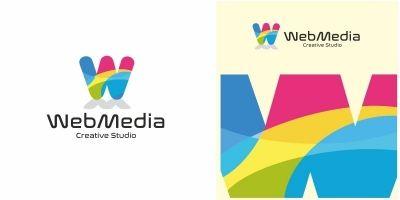 Web Media W Letter Logo