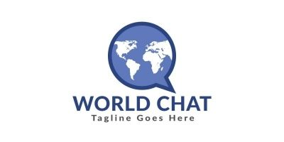 World Chat Logo Design
