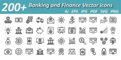 Banking And Finance Vector Icons