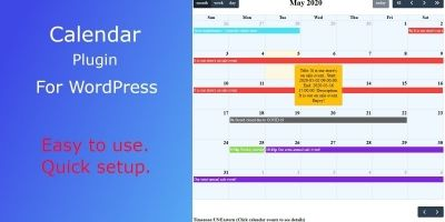 Dragon Calendar WordPress Plugin