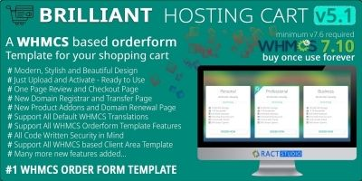 Brilliant Hosting Cart - WHMCS Order Form Template
