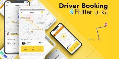 Taxi App Driver - Flutter UI KIT