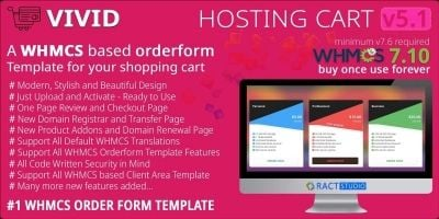 Vivid Hosting Cart - WHMCS Order Form Template
