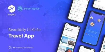 Travel App - React Native UI Kit